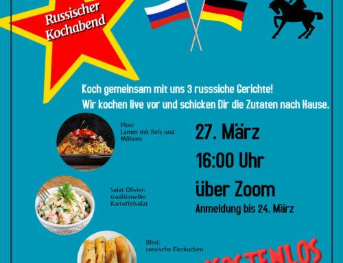 Digitaler Russischer Kochabend im März 2021
