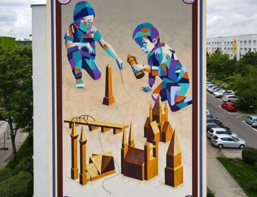Wandbild zur Städtepartnerschaft Halle – Ufa im Mai 2021